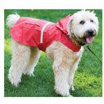 View Image 2 of Seattle Dog Rain Slicker - Red