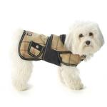 View Image 1 of Sherlock Plaid Dog Coat - Camel