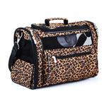 View Image 1 of Sherpa Leopard Print Cat Tote