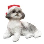 View Image 1 of Shih Tzu Sitting Christmas Ornament - Gray