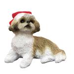 View Image 1 of Shih Tzu Sitting Christmas Ornament - Tan