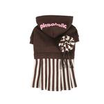 View Image 1 of Signature Pinkaholic Stripe Dress - Brown & White