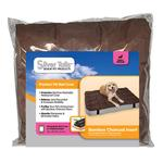 View Image 1 of Silver Tails Bamboo Charcoal Rectangular Dog Bed Cover