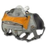 View Image 3 of Singletrak Hydration Dog Pack by RuffWear - Orange Sunset