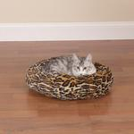 View Image 1 of Slumber Pet Cozy Kitty Bed - Cheetah
