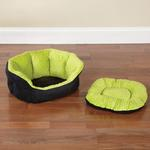 View Image 2 of Slumber Pet Dimple Plush Nesting Bed - Green