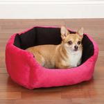 View Image 1 of Slumber Pet Dimple Plush Nesting Bed - Pink