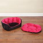 View Image 3 of Slumber Pet Dimple Plush Nesting Bed - Pink