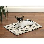 View Image 1 of Slumber Pet Paw Print Crate Mats - Ivory