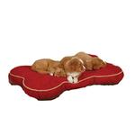 View Image 1 of Slumber Pet Suede Bone Beds for Pet - Red
