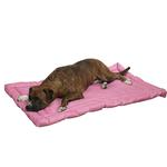 View Image 1 of Slumber Pet Water-Resistant Dog Bed - Pink