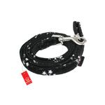 View Image 1 of Snowflake Dog Leash by Puppia - Black