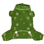 View Image 2 of Snowflake Dog Long Johns by Hip Doggie - Green
