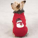 View Image 1 of Snowman Dog Sweater - Red