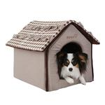View Image 1 of Snug House Dog Bed by Pinkaholic - Brown