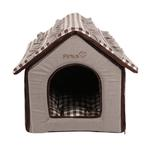 View Image 4 of Snug House Dog Bed by Pinkaholic - Brown