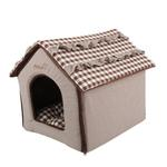 View Image 3 of Snug House Dog Bed by Pinkaholic - Brown