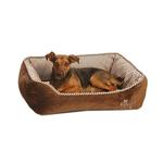 View Image 1 of Snuggle Dog Bed by NY Dog - Brown