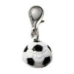 View Image 1 of Soccer Ball Dog Collar Charm