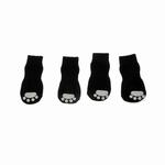 View Image 2 of Solid Slipper Dog Socks - Black