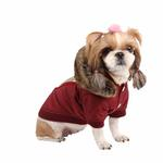 View Image 1 of Soothing Dog Coat by Puppia - Wine