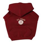 View Image 1 of Sports Hooded Dog Sweatshirt -  Baseball