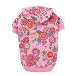 View Image 2 of Spring Garden Pullover Dog Hoodie - Begonia Pink