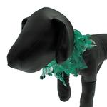 St. Patrick's Day Clover Dog Neck Scrunchy