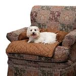 View Image 1 of Sta-Put Pet Bolstered Furniture Protector by Solvit - Cocoa