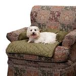 View Image 1 of Sta-Put Pet Bolstered Furniture Protector by Solvit - Moss