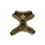 View Image 1 of Star Fur Harness by Hip Doggie - Olive