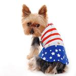 View Image 4 of Star Spangled Dog Dress by Dogo