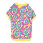 View Image 2 of Starburst Tie Dye Dog T-Shirt - Yellow