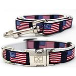 View Image 1 of Stars n Stripes Dog Collar and Leash Set by Diva Dog