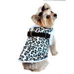 View Image 1 of Step In Wrap Dog Coat - Snow Leopard