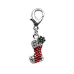 View Image 1 of Stocking Holiday Dog Collar Charm