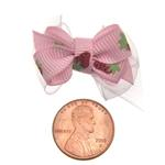 View Image 3 of Strawberry Dog Hair Bow with Alligator Clip - Pink