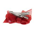 View Image 3 of Strawberry Dog Hair Bow with Alligator Clip - Red