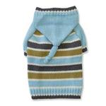 View Image 2 of Stripe Hoodie Sweater by Dogo - Blue
