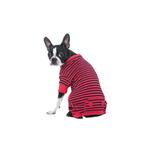 Striped Dog Pajamas - Red