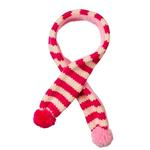 Striped Dog Scarf by Fab Dog - Pink