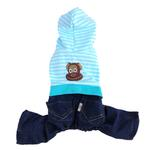 Striped Monkey Logo Dog Jumper - Blue
