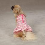 View Image 1 of Striped Seersucker Dog Dress by Zack & Zoey - Pink
