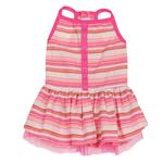 View Image 2 of Striped Seersucker Dog Dress by Zack & Zoey - Pink