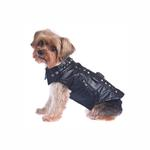 View Image 2 of Studded Motor-Cross Pleather Dog Jacket