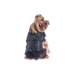 View Image 3 of Studded Motor-Cross Pleather Dog Jacket