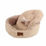 View Image 3 of Suave Dog Bed by Puppia - Beige