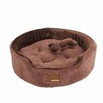 View Image 1 of Suave Dog Bed by Puppia - Brown