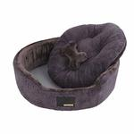 View Image 3 of Suave Dog Bed by Puppia - Gray