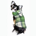 View Image 4 of Super Soft Polar Fleece Dog Hoodie - Green Plaid